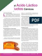 Mundo Lácteo y Cárnico - Acido Láctico en Productos Cárnicos