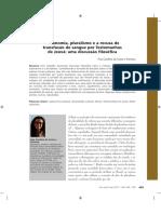 Ana Carolina Da Costa e Fonseca - Autonomia, Pluralismo e a Recusa de Transfusão de Sangue Por Testemunhas de Jeová - Uma Discussão Filosófica