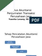 Siklus Akuntansi Penjurnalan Transaksi Perusahaan Jasa
