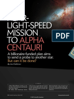 Near-Light-Speed Mission to Alpha Centauri