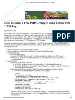 How To Setup a Free PHP Debugger using Eclipse PDT + XDebug