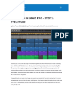 Templates in Logic Pro - Step 1_ Structure