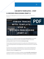 Finish Tracks With Templates - Step 6_ Mix Bus Processing (Part 1)