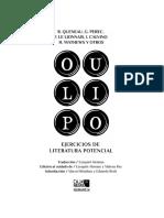 OULIPO - Extractos Del Libro - Caja Negra 2016