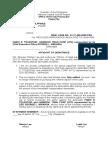 Affidavit of Desistance - Finals