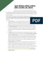 10 Cosas Que Debes Saber Sobre La Nueva ISO 14001:2015