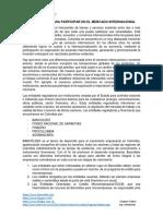 Condiciones Para Participar en El Mercado Internacional