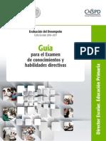 Guía Para El Examen de Conocimientos y Habilidades Directivas