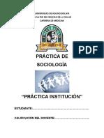 Sociologia Formato de Practica Institucion