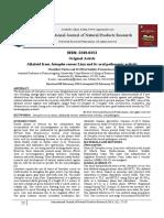 Alkaloid From Jatropha Curcas Linn and Its Oral Pathogenic Activity