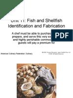 Fish and Shellfish Identification and Fabrication