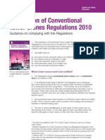 Notification of Conventional Tower Cranes Regulations 2010 (Indg437)