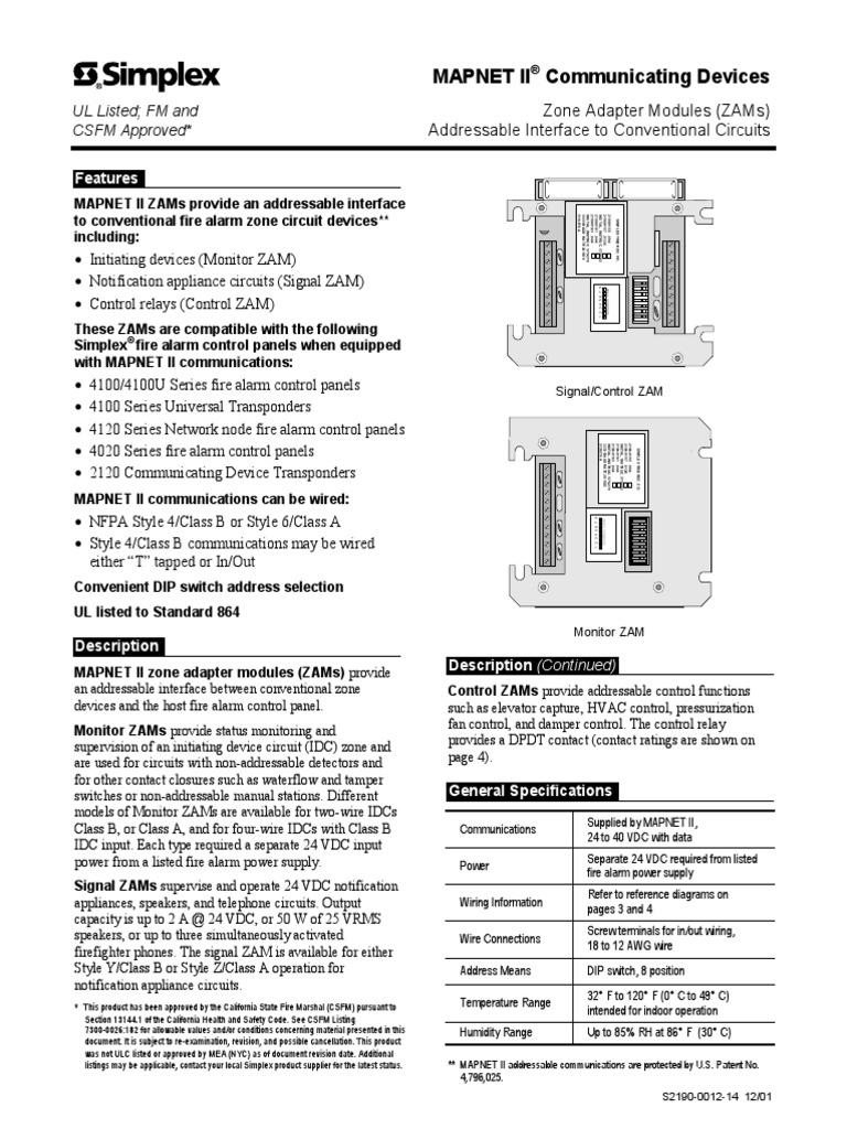 Simplex Wiring Diagram 110 Volt - WIRE Center •