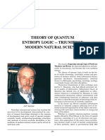 The Theory of Quantum Entropic Logic of Theodore Van Hoven