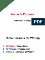 Authors Purpose Lesson