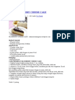 Resep Blueberry Cheese Cake