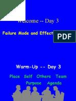 FMEA Day 3