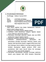 Bahan Rapat Bapperda Tanggal 16 1 2017