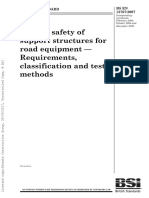 Passive Safety Of SupportStructures for Road Equipment