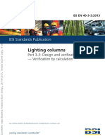Lightings Columns Design and Verification