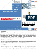 Oracle  Planning and Budgeting Cloud Service EPM Automate Data Export
