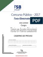 Tecnico Em Assuntos Educacionais_Prova