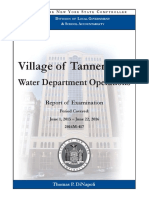 Village of Tannersville Water Department Operations