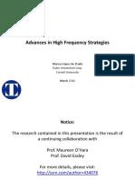 Advances in HFT