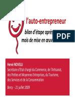 090721bilan Auto Entrepreneur