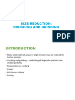 Size Reduction - Crushing and Grinding