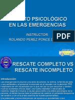 Impacto Psicológico en Las Emergencias