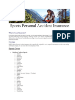 Sports Personal Accident Insurance