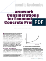 Formwork consideration for Economics project