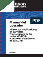 allison transmission manual de operacion