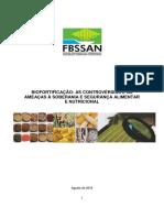 Biofortificacao as Controvérsias e as Ameaças à Soberania e Segurança Alimentar e Nutricional