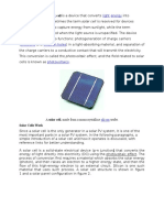 A Solar Cell or Photovoltaic Cell is a Device That Converts Light Energy Into Electrical Energy Pasti
