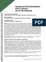 Avaliação da Biodegradação de Poli-ββ ββ β-(Hidroxibutirato), Poli-ββ ββ β-(Hidroxibutirato-co-valerato) e Poli-εε εε ε-(caprolactona) em Solo Compostado