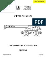 RT 200 Manual de Operación y Mantenimiento