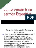 8 Como Construr Un Sermon Expositivo. ppt