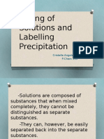 Mixing of Solutions and Labelling Precipitation