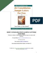 Debt Consolidation Sample Letter