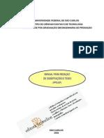 MANUAL PARA REDAÇÃO DE DISSERTAÇÕES E TESES (PPG-EP) UFSC
