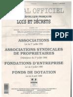 Publication de l'association au Journal Officiel