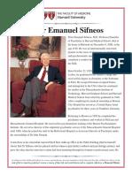 Memorial minute Sifneos Peter Emanuel