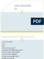 Questionnaire About the Enviroment