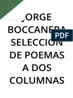 Jorge Boccanera Seleccion de Poemas a 2columnas