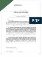 Salomone y Michel Fariña (2009) El Experimento de Stanley Milgram. Cuestiones Éticas y Metodológicas