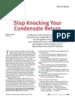 Condensate Return CEP