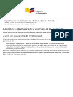 Curriculo 1 (Promo 10)  Lección Características y Elementos Del Currículo ¿Qué Son Los Criterios de Evaluación