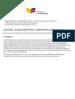 Curriculo 1 (Promo 10) Lección Características y Elementos Del Currículo - Códigos